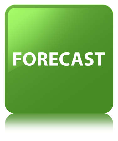 Forecast isolated on soft green square button reflected abstract illustration