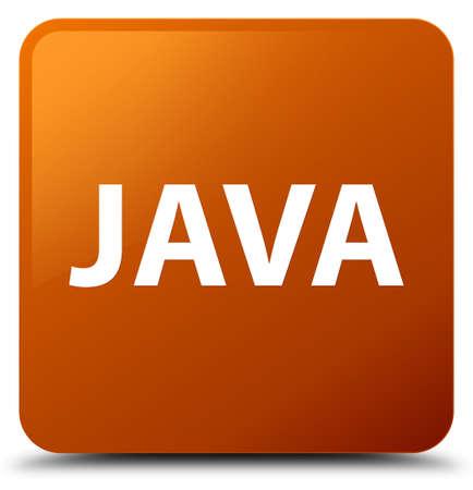 茶色の正方形ボタンの抽象的なイラストに分離された Java
