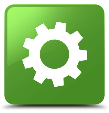 Process icon isolated on soft green square button abstract illustration Stock Photo