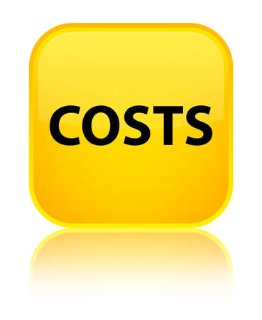 Costs isolated on special yellow square button reflected abstract illustration Stock Photo