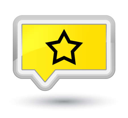 Star icon isolated on prime yellow banner button abstract illustration