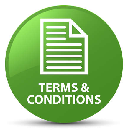 Terms and conditions (page icon) isolated on soft green round button abstract illustration