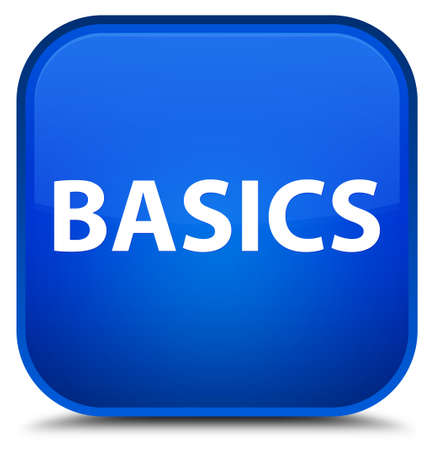Basics isolated on special blue square button abstract illustration Фото со стока