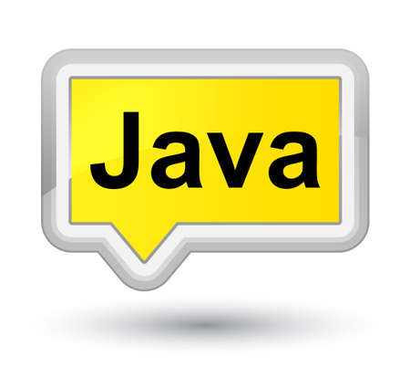 Java isolated on prime yellow banner button abstract illustration