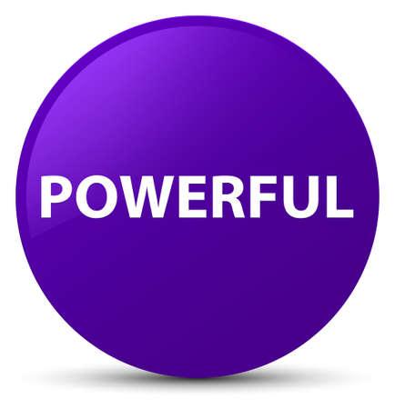 Powerful isolated on purple round button abstract illustration 版權商用圖片