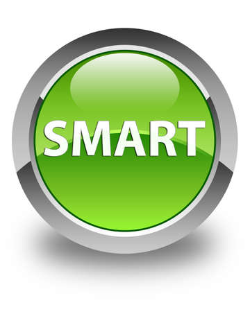Smart isolated on glossy green round button abstract illustration Imagens - 90392149