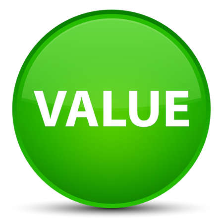 Value isolated on special green round button abstract illustration Stock Photo