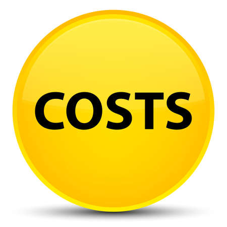 Costs isolated on special yellow round button abstract illustration Stock Photo