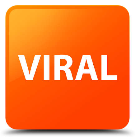 Viral isolated on orange square button abstract illustration Stock Photo