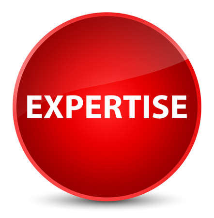 Expertise isolated on elegant red round button abstract illustration
