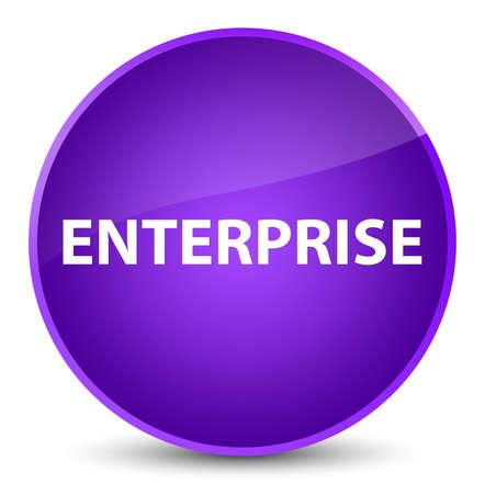 Enterprise isolated on elegant purple round button abstract illustration