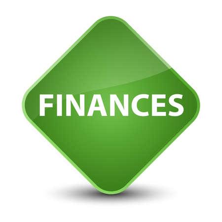 Finances isolated on elegant soft green diamond button abstract illustration