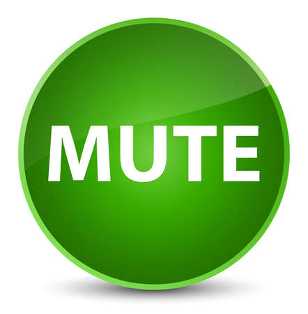 Mute isolated on elegant green round button abstract illustration