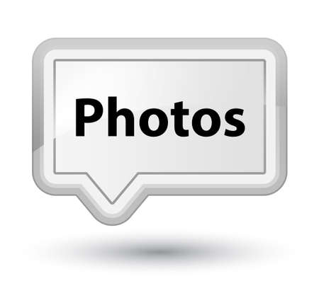Photos isolated on prime white banner button abstract illustration