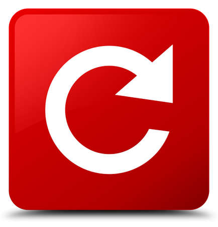 Reply rotate icon isolated on red square button abstract illustration
