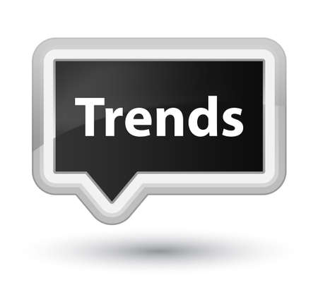 Trends isolated on prime black banner button abstract illustration