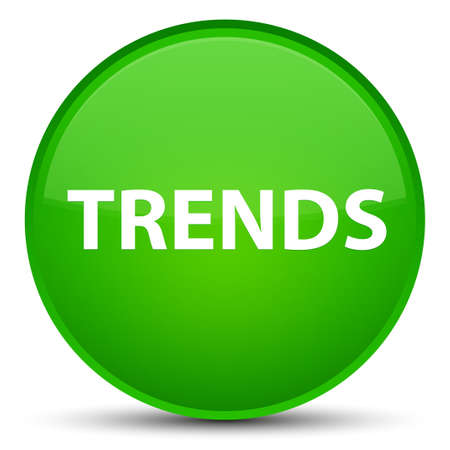 Trends isolated on special green round button abstract illustration Stok Fotoğraf