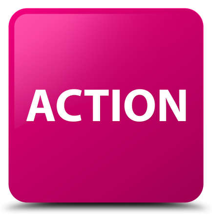 Action isolated on pink square button abstract illustration