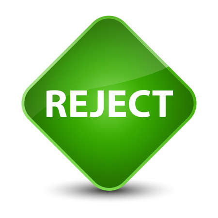 Reject isolated on elegant green diamond button abstract illustration Stock Photo