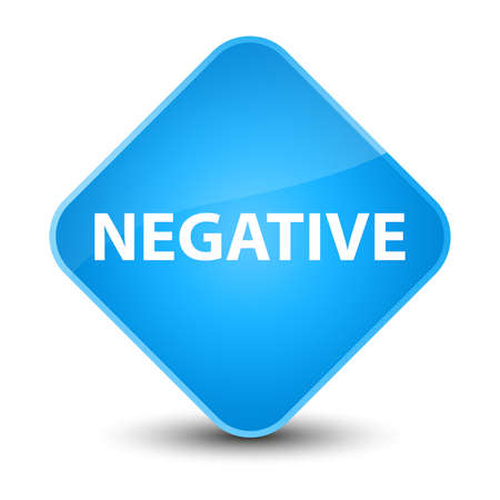 Negative isolated on elegant cyan blue diamond button abstract illustration Stock Photo