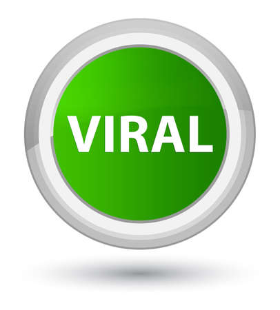 Viral isolated on prime green round button abstract illustration Stock Photo