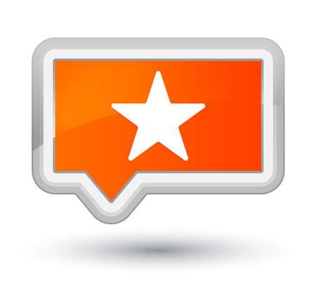 プライムオレンジのバナーボタンに隔離された星のアイコン抽象的なイラスト 写真素材