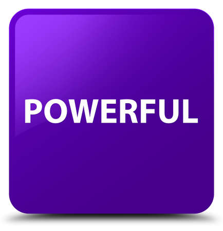 Powerful isolated on purple square button abstract illustration