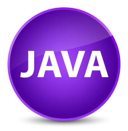 エレガントな紫色の丸いボタンの抽象的なイラストに分離された Java