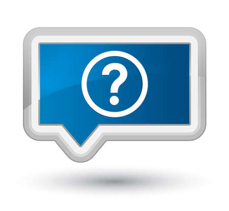 Question icon isolated on prime blue banner button abstract illustration Stock Photo