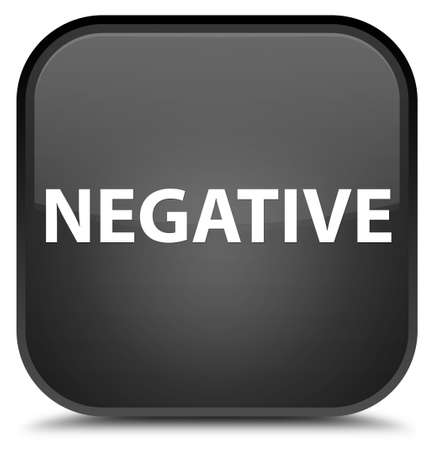 Negative isolated on special black square button abstract illustration
