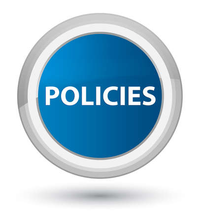 Policies isolated on prime blue round button abstract illustration Banco de Imagens