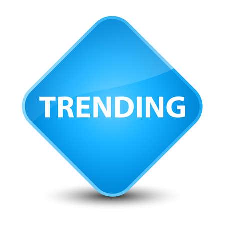 Trending isolated on elegant cyan blue diamond button abstract illustration Stok Fotoğraf