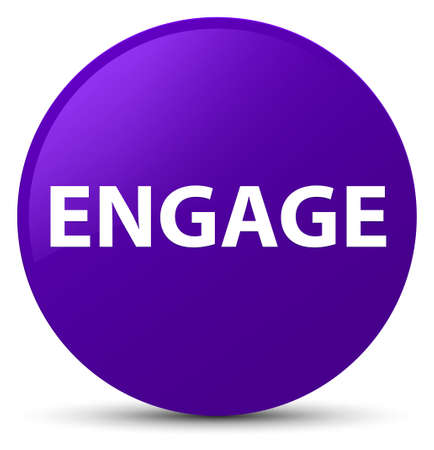 Engage isolated on purple round button abstract illustration