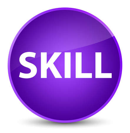 Skill isolated on elegant purple round button abstract illustration
