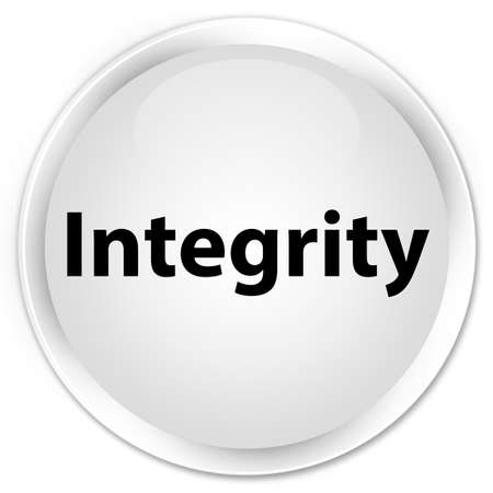 Integrity isolated on premium white round button abstract illustration