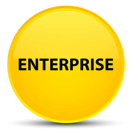 Enterprise isolated on special yellow round button abstract illustration Stok Fotoğraf