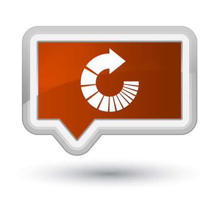 Rotate arrow icon isolated on prime brown banner button abstract illustration