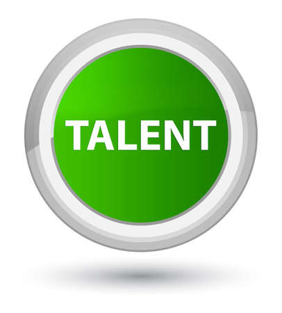 Talent isolated on prime green round button abstract illustration