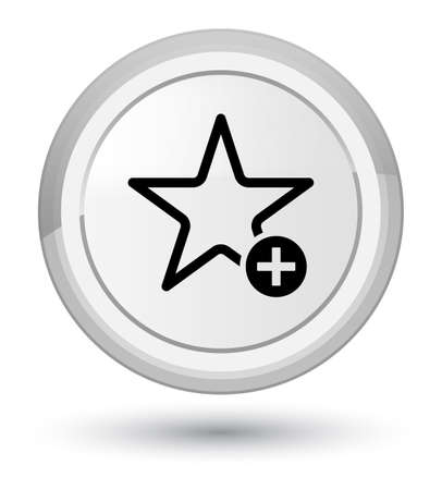 Add to favorite icon isolated on prime white round button abstract illustration Stock Photo