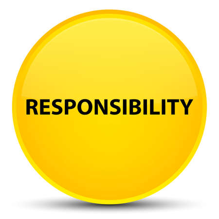 Responsibility isolated on special yellow round button abstract illustration