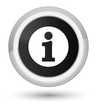 Info icon isolated on prime black round button abstract illustration