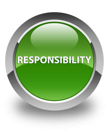 Responsibility isolated on glossy soft green round button abstract illustration