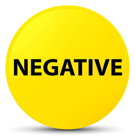 Negative isolated on yellow round button abstract illustration
