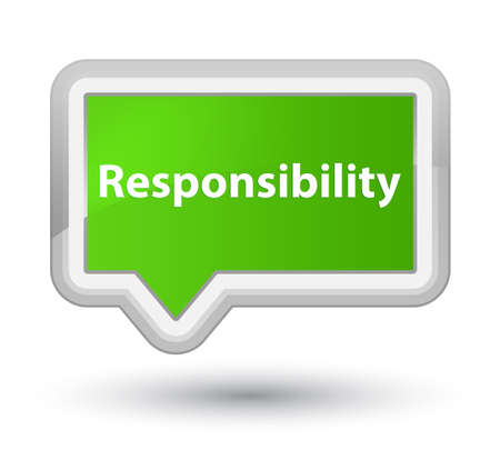 Responsibility isolated on prime soft green banner button abstract illustration Stock Photo