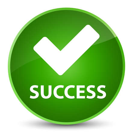 Success (validate icon) isolated on elegant green round button abstract illustration Stock Photo