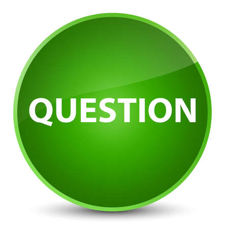 Question isolated on elegant green round button abstract illustration Stock Photo