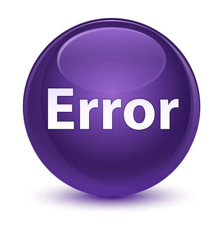 Error isolated on glassy purple round button abstract illustration