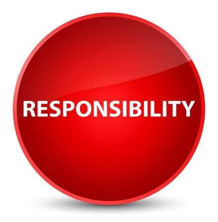 Responsibility isolated on elegant red round button abstract illustration Stock Photo