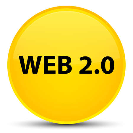 Web 2.0 isolated on special yellow round button abstract illustration Stock Photo