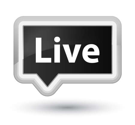 Live isolated on prime black banner button abstract illustration Stock Photo